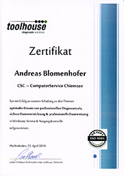 toolhouse Zertifikat